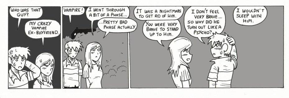 Vampire ex-boyfriend.