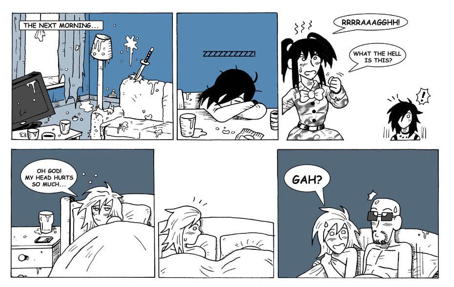 The hangover.