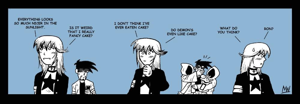 Do demons like cake?