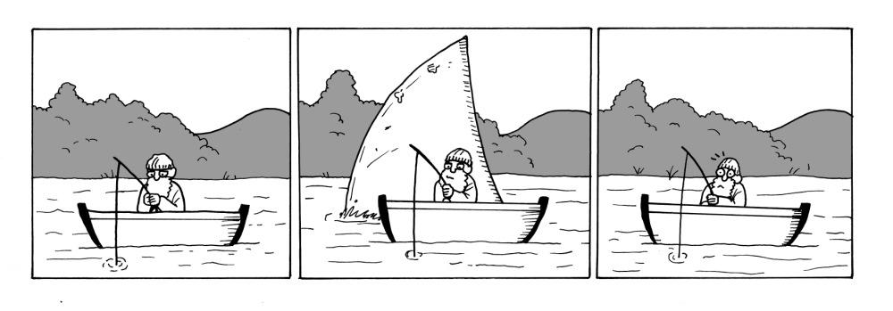 Gone fishing.